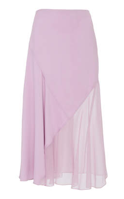 Prabal Gurung Diagonal Seamed Cady Skirt