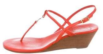 Tory Burch Logo Wedge Sandals