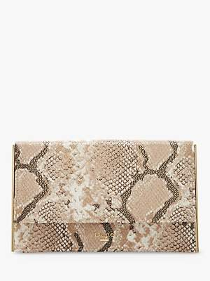 Dune Binkiie Clutch Bag, Natural Snake