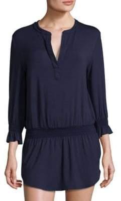 Heidi Klein Smocked Bell-Sleeve Tunic