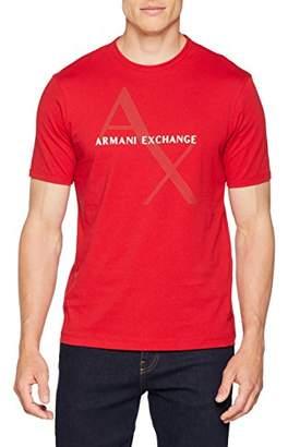 Armani Exchange A|X Men's Tonal and Contrast Logo Core Crew Neck