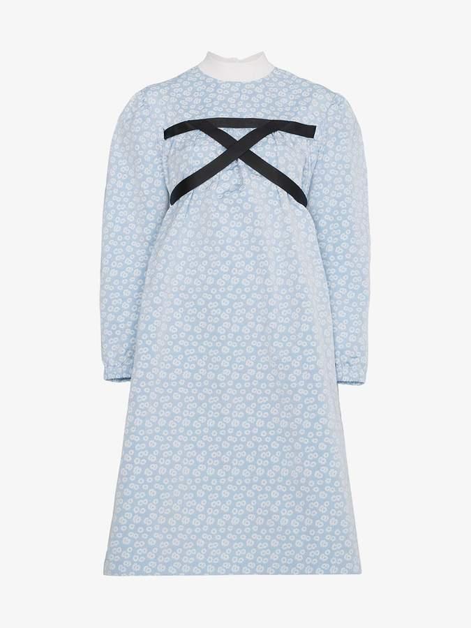Shushu/Tong Harness Floral midi dress