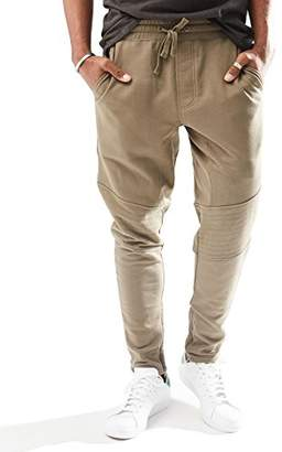 Rebel Canyon Young Men's Slim Fit Ankle Zip Jogger Sweatpant