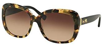 Coach Womens Sunglasses /Brown Acetate - Non-Polarized - 58mm
