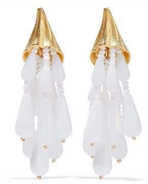 Ben-Amun Gold-Tone Beaded Clip Earrings
