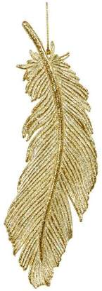 Unspecified Gold-Tone Feather Decoration