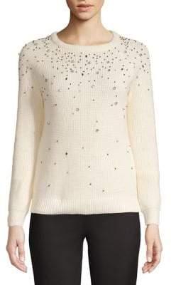 INC International Concepts Ribbed Embellished Sweater
