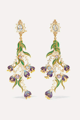 412e1a975 Papi Percossi Gold-plated And Enamel Multi-stone Earrings - Green
