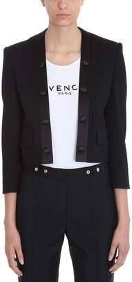 Givenchy Cropped Wool Tuxedo Jacket