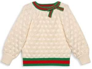 Gucci Little Girl's& Girl's Wool Knit Crewneck Sweater