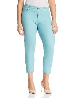 Marina Rinaldi Radiale Cropped Notched-Hem Jeans