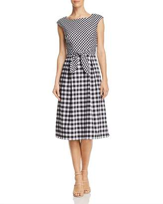 Adrianna Papell Mixed Gingham Dress