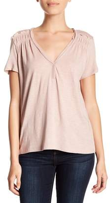 Susina V-Neck Ruffled Tee