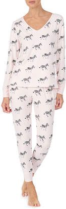 Kate Spade Zebra Dazzle Long Pajama Set