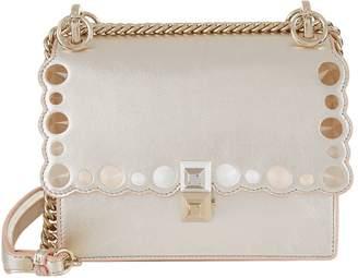 Fendi Small Kan I Embellished Leather Bag