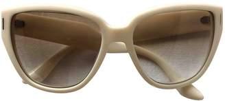 Miu Miu Beige Plastic Sunglasses
