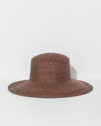 CLYDE Umber Medium Brim Flat Top Hat b8ec79d843b