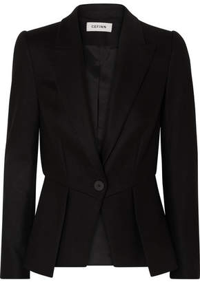 Cefinn - Wool-blend Twill Peplum Blazer - Black
