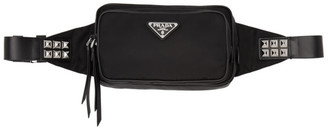 Prada Black Studded Belt Bag