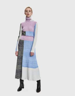 3.1 Phillip Lim Mixed Marled Patchwork Skirt