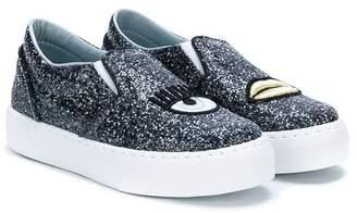 Chiara Ferragni Kids embellished slip-on sneakers