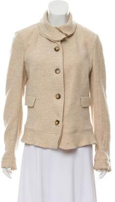 Burberry Collared Wool & Cashmere Jacket w/ Tags