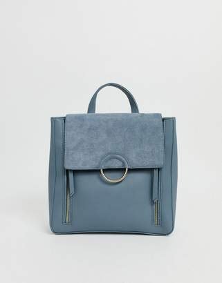 Forever New backpack with zip detail in blue
