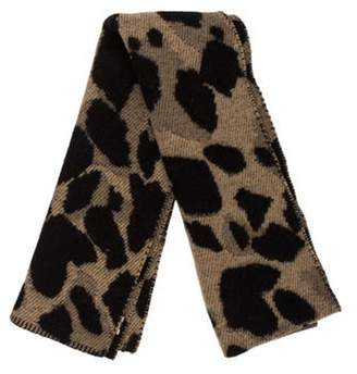 Burberry Printed Wool and Cashmere Scarf Black Printed Wool and Cashmere Scarf