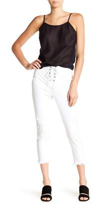 Hue High Waist Front Lace-Up Jeggings