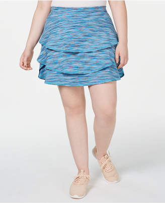 32a1c5afc5 Ideology Plus Size Coastal Space-Dyed Tennis Skort