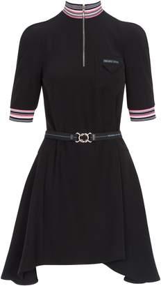 Prada Dress High Neck Zip