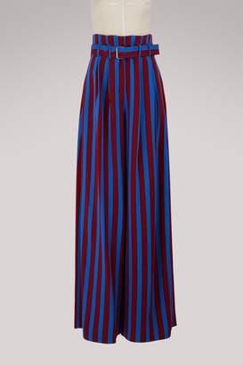 Maison Margiela Striped wide leg pants
