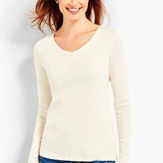 246d3c999 Talbots Pima Cotton Long-Sleeve V-Neck Tee