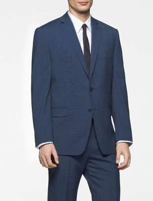 Calvin Klein body slim fit blue nailhead suit jacket