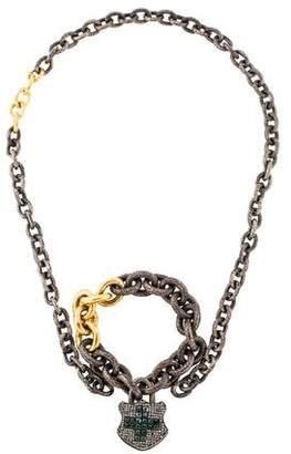 Sevan Biçakci Diamond Lock Necklace & Bracelet Set