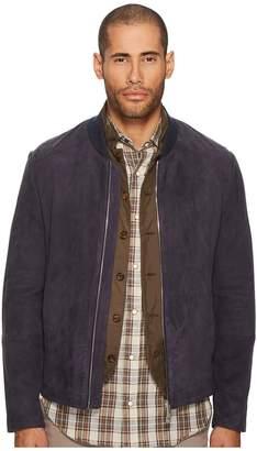 Eleventy Suede Baseball Jacket Men's Coat