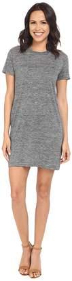 Michael Stars Linen Knit Short Sleeve Tee Dress w/ Slip Women's Dress