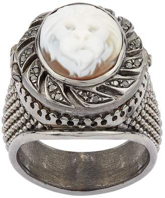 Amedeo Poison Lion Cameo Ring