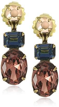 Sorrelli Mahogany Multi-Cut Crystal Drop Earrings