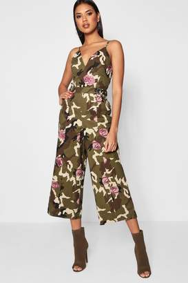 boohoo Emilie Camo and Floral Jumpsuit