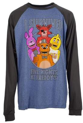 "Boy's ""I Survived Five Nights at Freddy's"" Long Sleeve Poly Raglan Tee"