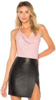by the way. Angelina Metallic Halter Bodysuit