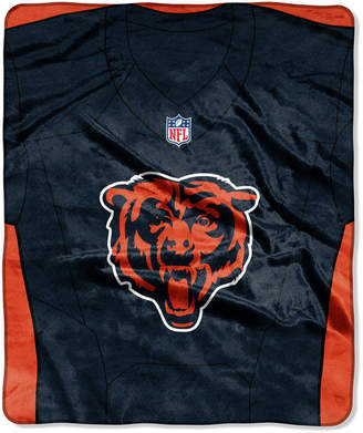 Northwest Company Chicago Bears Jersey Plush Raschel Throw
