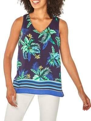 Dorothy Perkins Sleeveless Tropical V-Neck Top