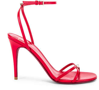Valentino Strappy Heel in Rouge Pur | FWRD