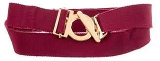 Salvatore Ferragamo Elasticized Waist Belt Fuchsia Elasticized Waist Belt