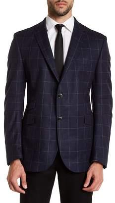 Sebastien James Notch Collar Windowpane Sport Coat