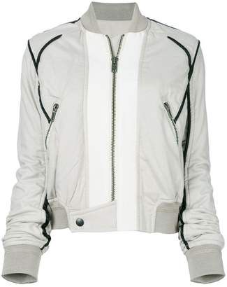 Haider Ackermann contrast piping bomber jacket