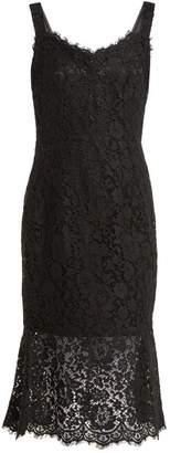 Dolce & Gabbana Scalloped Edge Lace Dress - Womens - Black