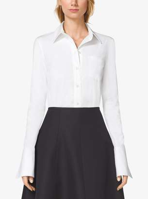 Michael Kors French Cuff Cotton-Poplin Shirt